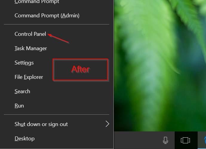añadir panel de control para ganar x ventanas del menú de usuario avanzado 10 pic2