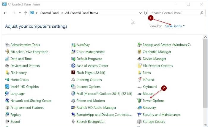 agregar opción de hibernación al menú de energía en Windows 10 Inicio pic2