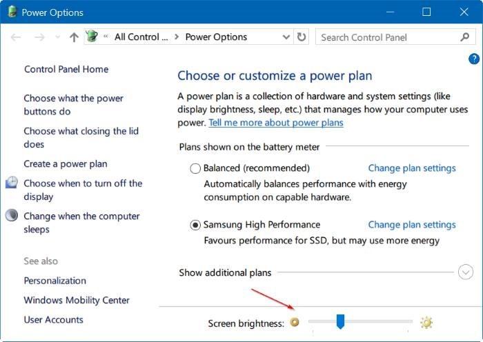 ajustar el brillo de la pantalla en Windows 10 pic4
