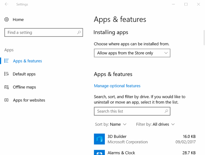 características de las aplicaciones en Windows 10 Creators Update pic1