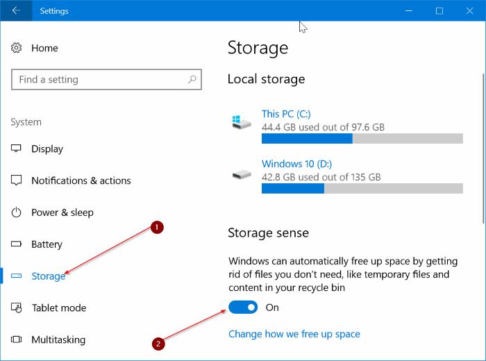 borrar automáticamente borrar archivos de la papelera de reciclaje en Windows 10 pic1