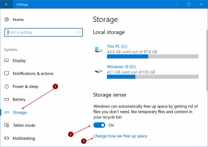 eliminar automáticamente los archivos de la carpeta Downloads en Windows 10 pic1