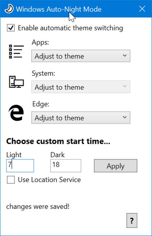 cambia automáticamente entre los modos oscuro y claro en Windows 10 pic1