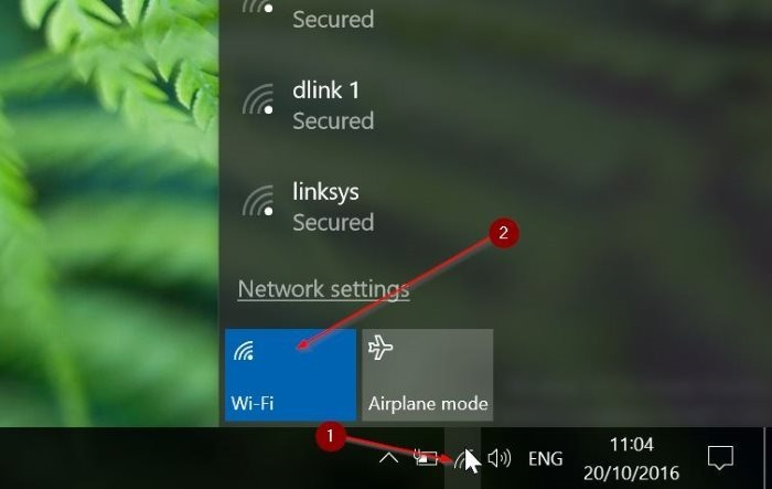 activar automáticamente Wi Fi Windows 10 pic1