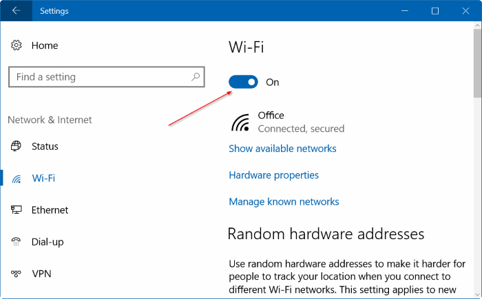 automatically turn on Wi Fi Windows 10 pic3