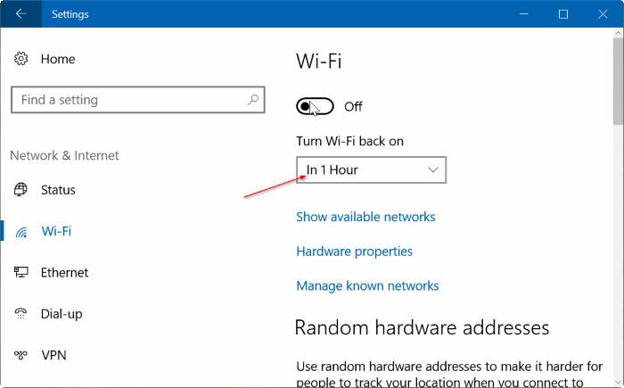 activar automáticamente Wi Fi Windows 10 pic4