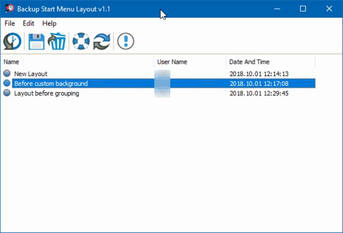 copia de seguridad y restauración Diseño del menú Inicio en Windows 10 pic1