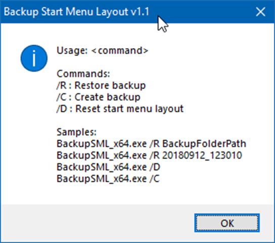 copia de seguridad y restauración Diseño del menú Inicio en Windows 10 pic3