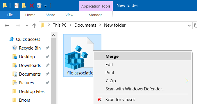 backup and restore file associations in Windows 10