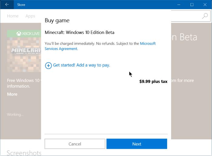 comprar aplicaciones y juegos usando el balance del teléfono móvil en Windows 10 step4