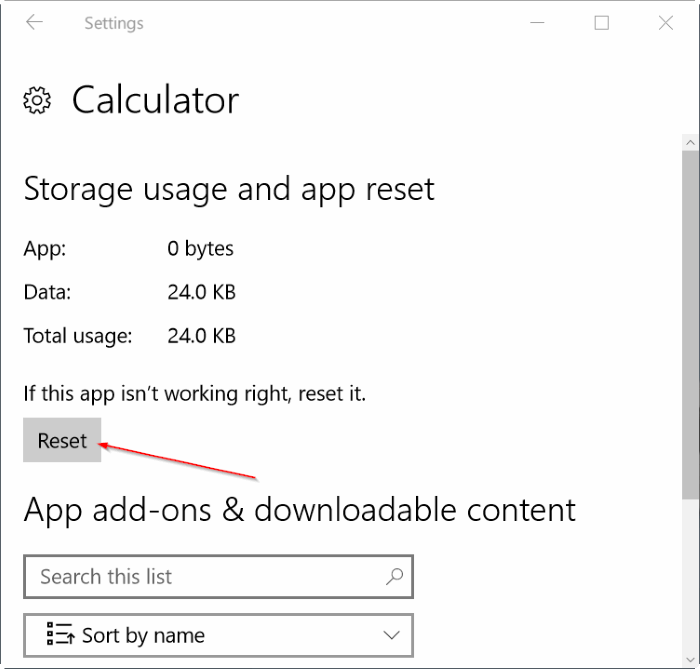 calculadora app no funciona o no abre Windows 10 pic2