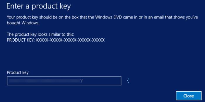 cambiar la clave de producto de Windows 10 pic01
