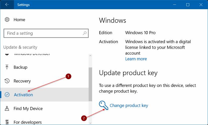 cambiar la clave de producto de Windows 10 pic02