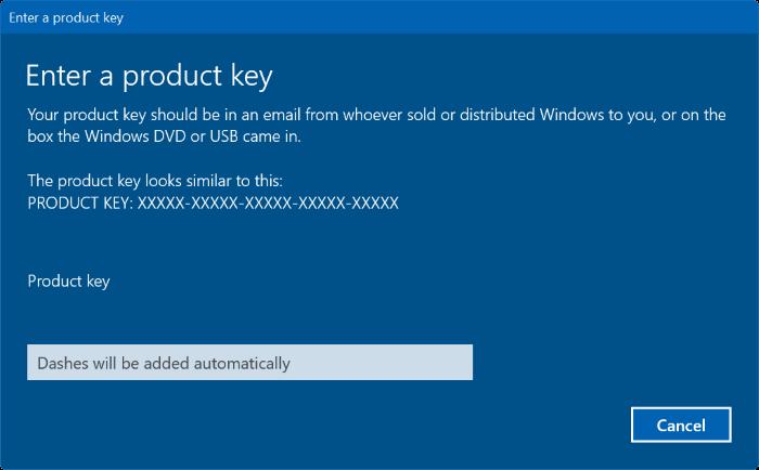 cambiar la clave de producto de Windows 10 pic2
