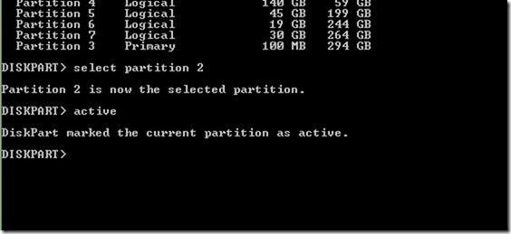 cambiar partición activa desde la línea de comandos picture01