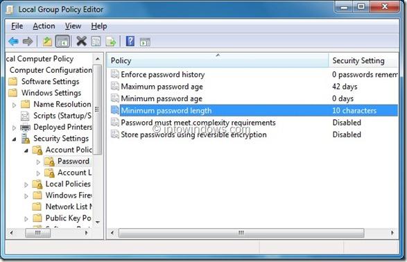 cambiar la contraseña de la cuenta del administrador en windows 7