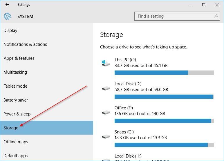 cambiar la ubicación de instalación predeterminada de las aplicaciones en Windows 10 step3.PNG