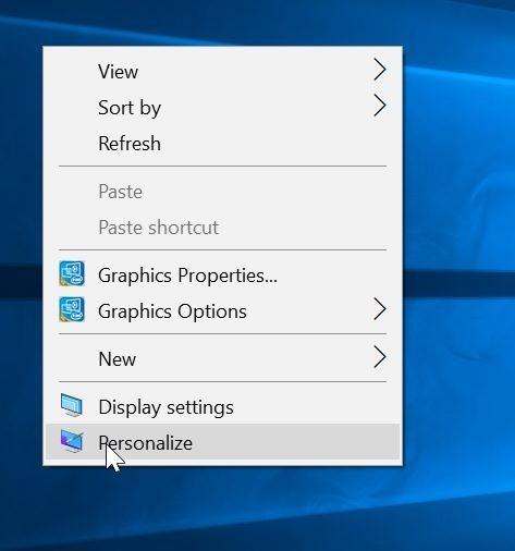 cambiar los iconos del escritorio en Windows 10 pic1