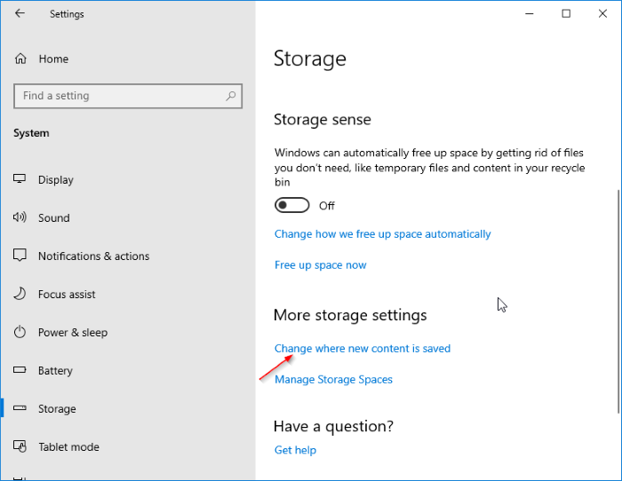 cambiar la ubicación de descarga de las aplicaciones de Windows Store en Windows 10 pic3