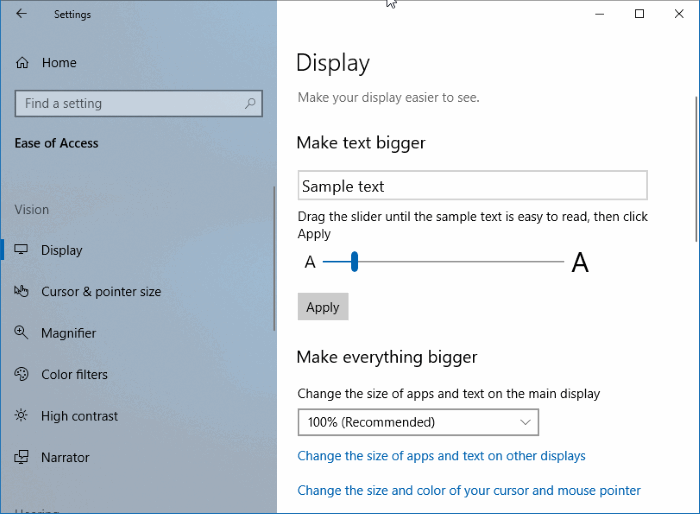 change file explorer font size in windows 10 pic1