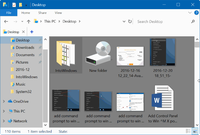 cambiar el color de fondo de la carpeta Windows 10