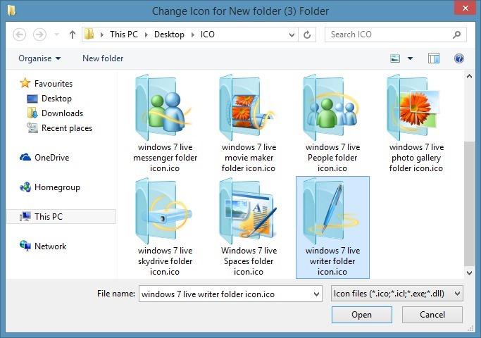 cambiar el icono de carpeta en Windows 7 o Windows 8 step4