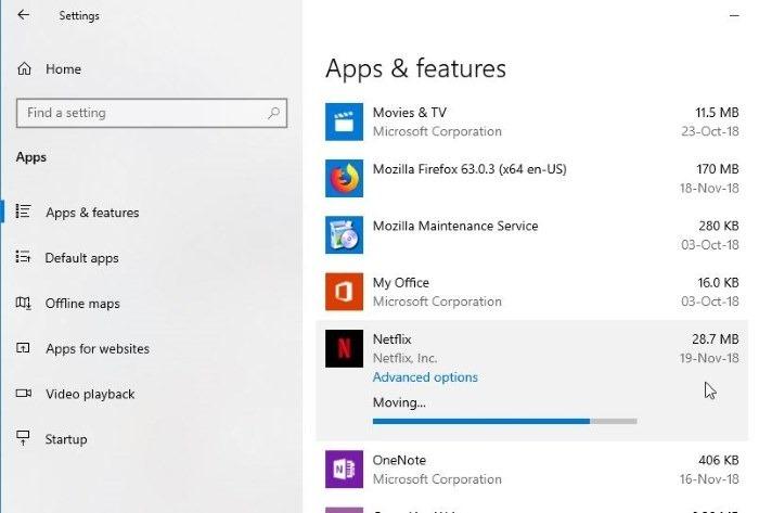 cambiar la ubicación de descarga de netflix en Windows 10 pic5.png