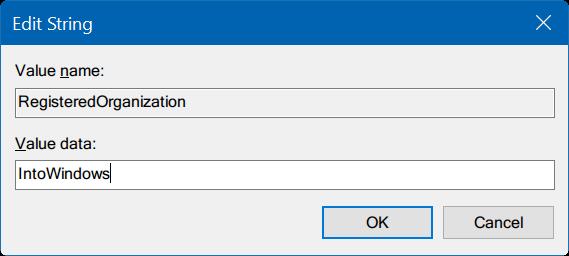 cambiar propietario registrado y nombre de la organización Windows 10 pic3