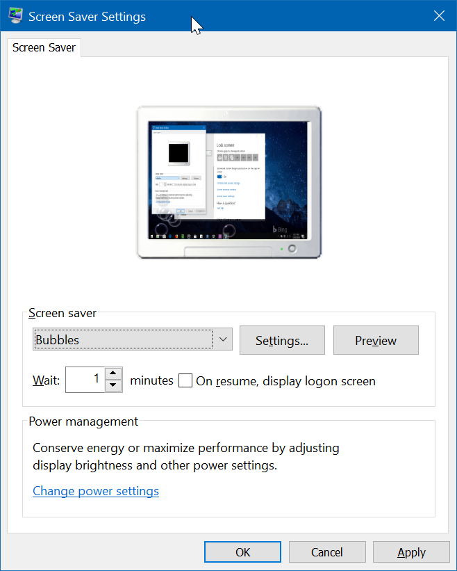 cambiar protector de pantalla en Windows 10 pic2