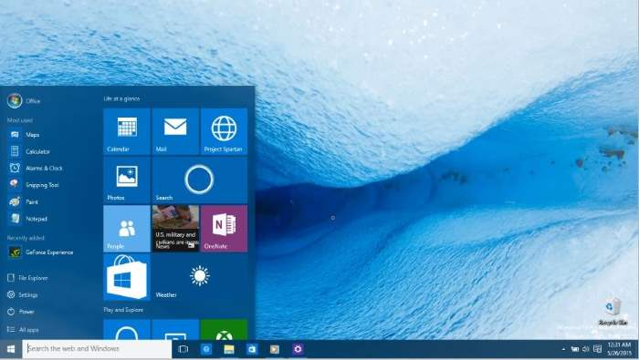 cambiar el color del menú Inicio Windows 10