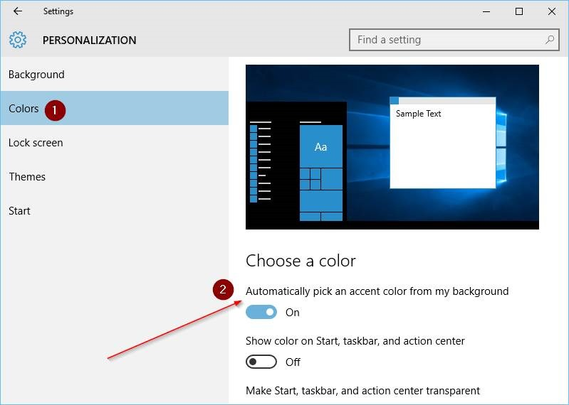 cambiar el color del borde de la ventana en Windows 10 step7
