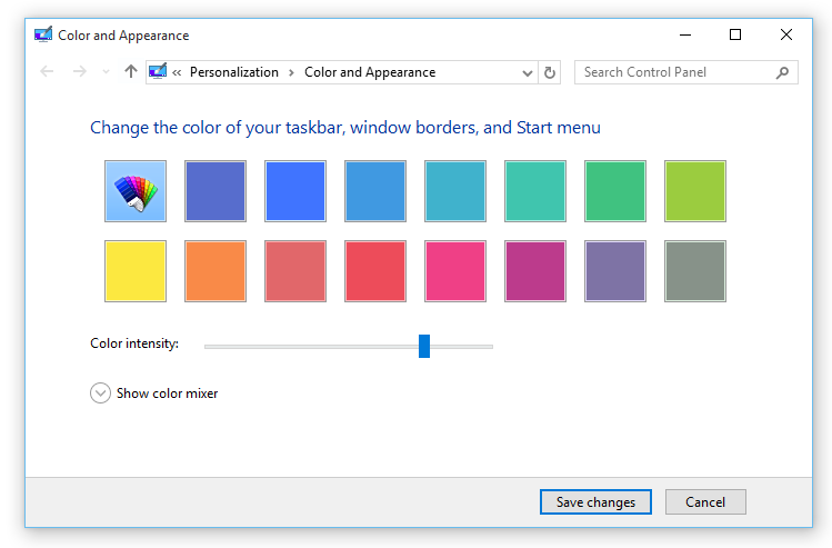cambiar el color del borde de la ventana en Windows 10