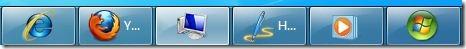 cambiar el tamaño del botón de la barra de tareas en windows 7