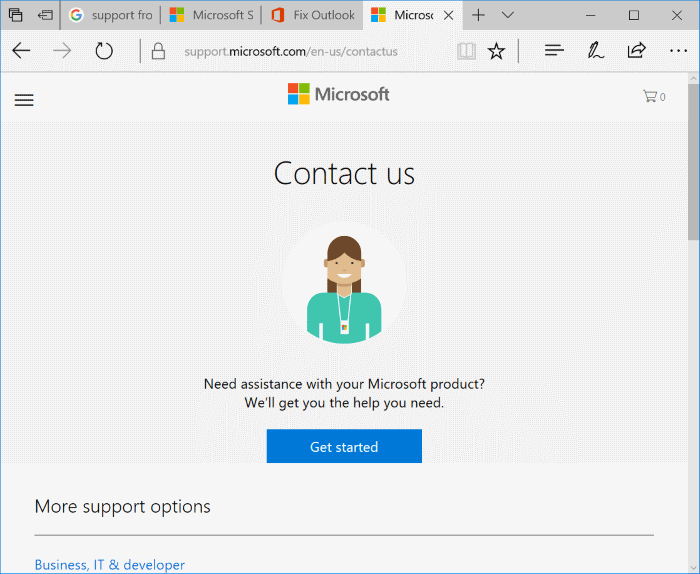 chat with Microsoft support online pic2