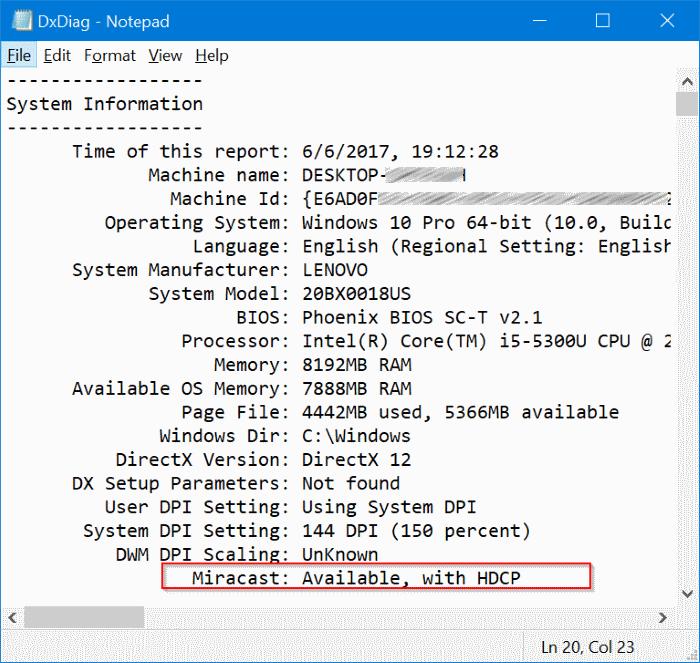 comprueba si tu PC con Windows 10 soporta miracast pic5