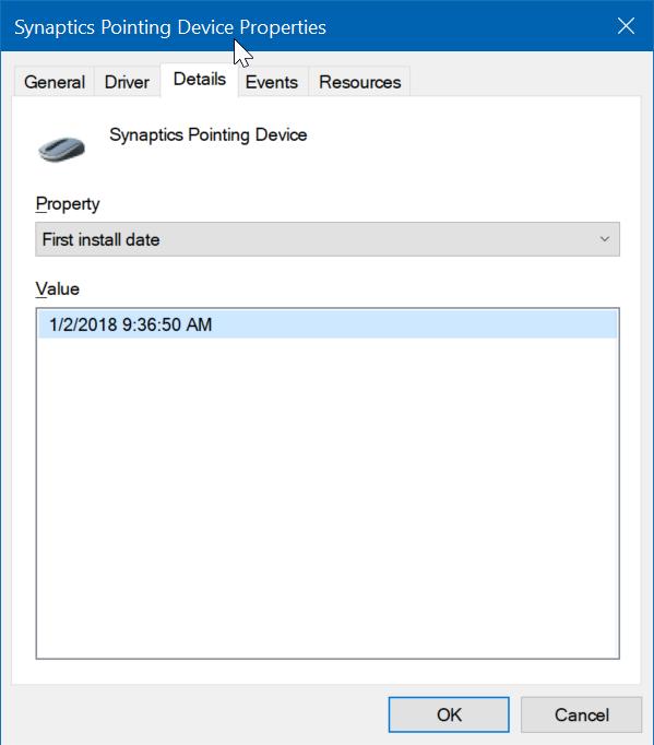 comprobar la fecha de instalación de los controladores en Windows 10 pic3