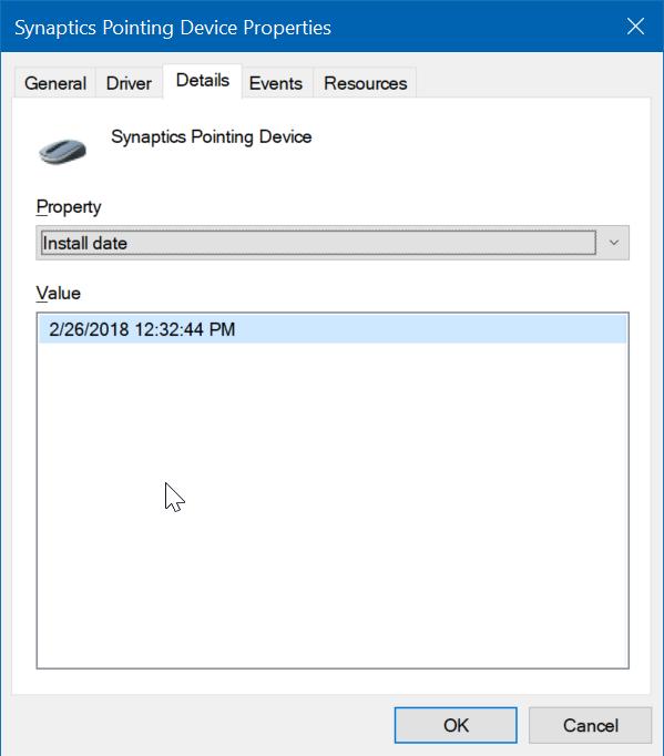 comprobar la fecha de instalación de los controladores en Windows 10 pic4
