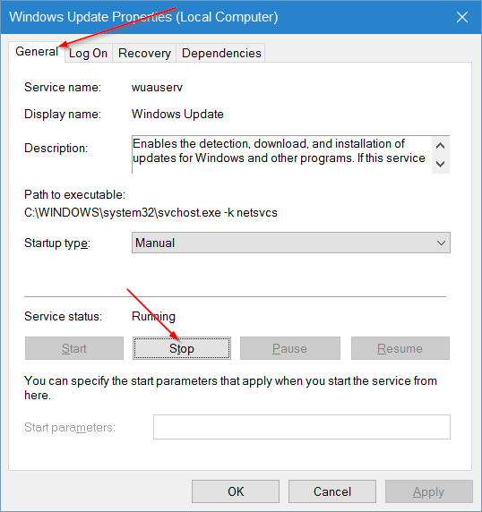 borrar la caché de Windows Update en Windows 10 step3