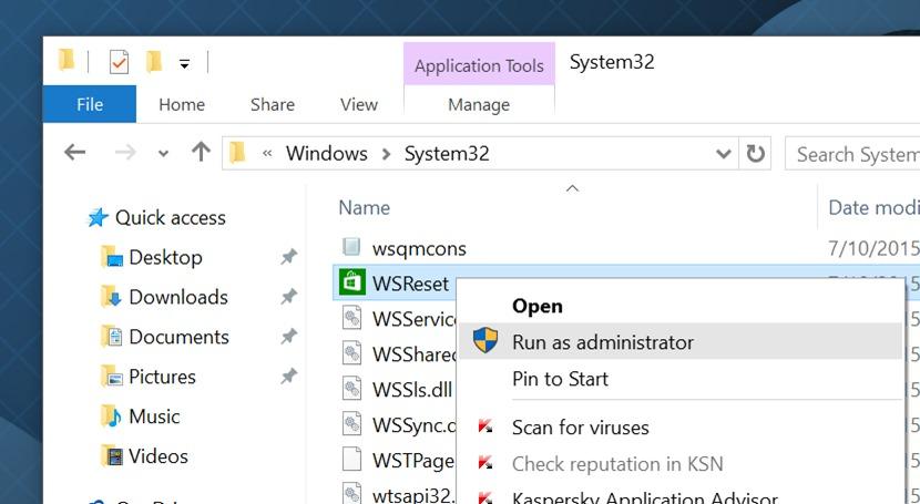 limpiar y restablecer la caché de almacenamiento de Windows en Windows 10 pic2