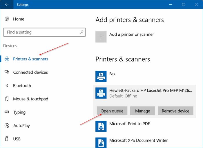 clear print queue in Windows 10 pic6