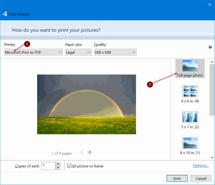 combinar varias imágenes en un PDF en Windows 10 pic2