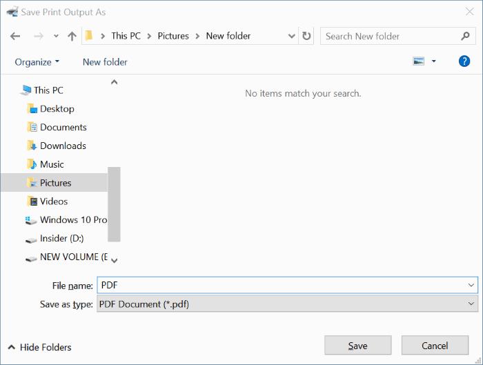 combinar varias imágenes en un PDF en Windows 10 pic3