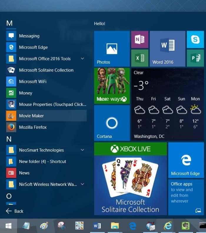 crear acceso directo del escritorio para programar en Windows 10 step1