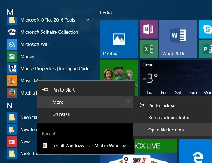 crear acceso directo del escritorio para programar en Windows 10 step4