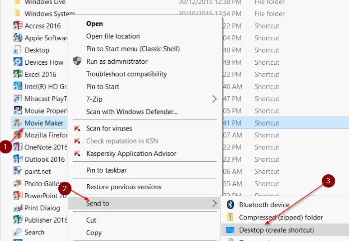 crear acceso directo del escritorio para programar en Windows 10 step5