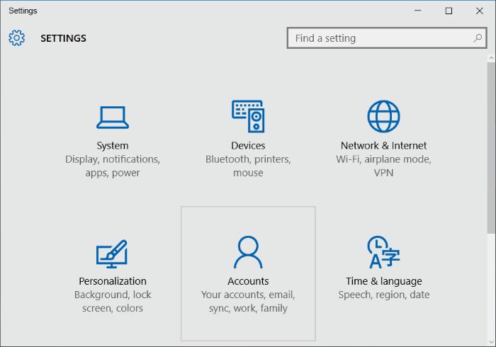 crear una cuenta de usuario local en Windows 10 step2