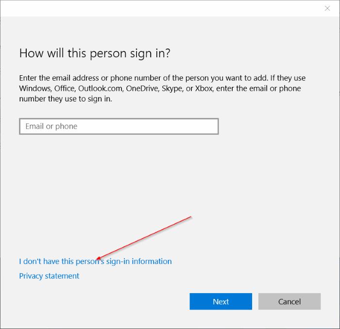 crear una cuenta de usuario local en Windows 10 step4