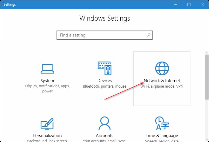 crear punto caliente móvil en Windows 10 pic2