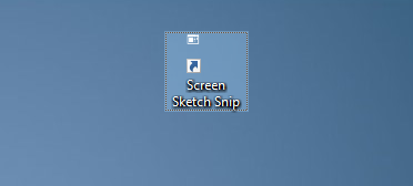 create screen sketch snip desktop shortcut in Windows 10 pic3