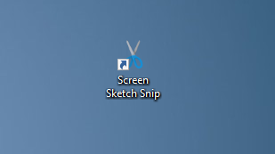 create screen sketch snip desktop shortcut in Windows 10 pic7